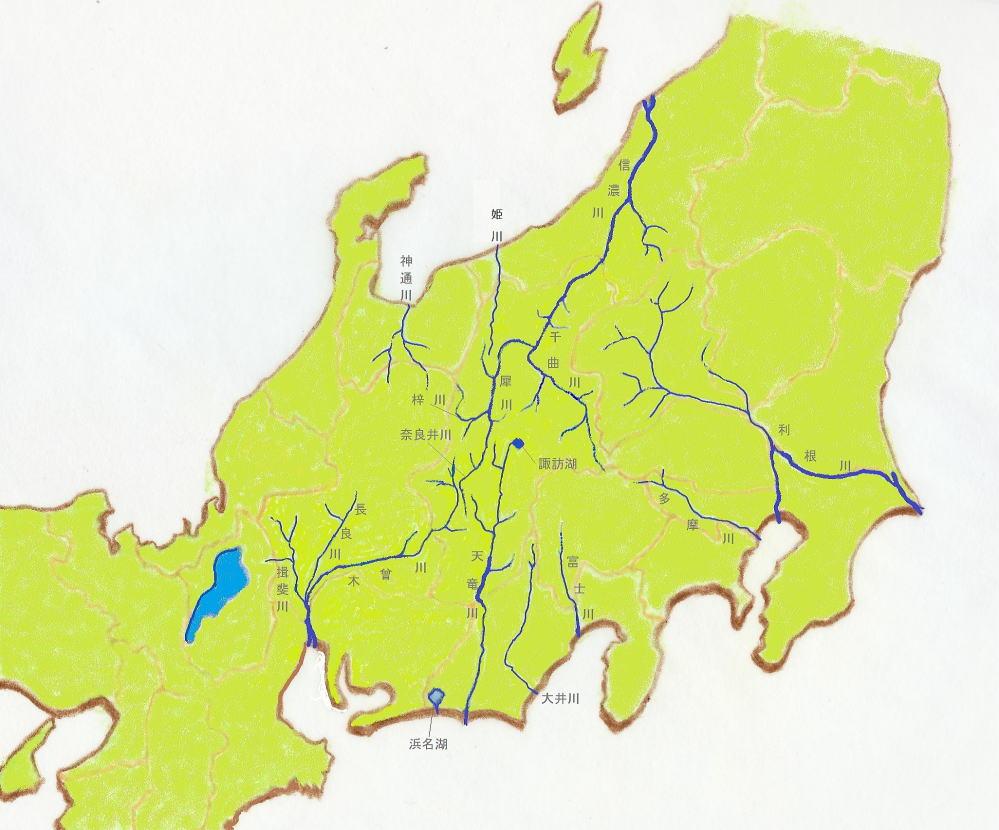 川 地図 信濃